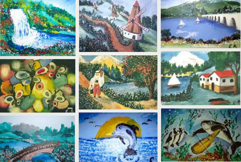 Armagan's paintings